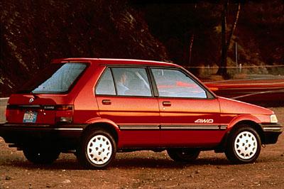 lemy blatniku Subaru Justy 1989-1995