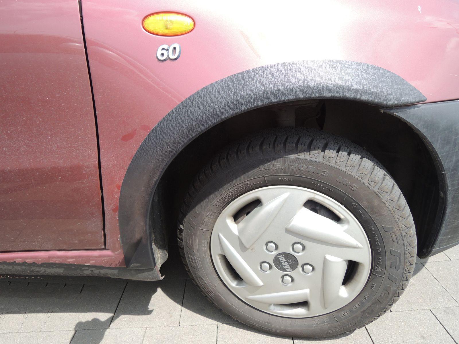 Plastové lemy blatníku Fiat Punto 1993-1999 5dv.hatchback